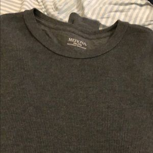 Gray Cable-knit Shirt
